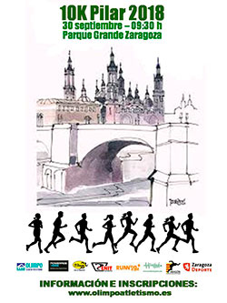 Cartel de la Carrera Popular Pilar 2011